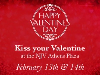 Kiss your Valentine at the N.J.V. Athens Plaza